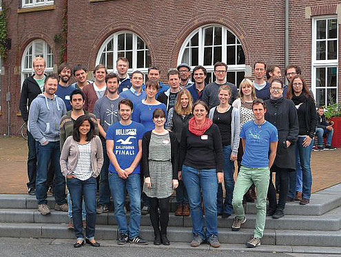 Young molecular biologists meeting at a Networking Symposium in Amsterdam, that was supported by the DPZ Foundation. Photo: Christoph Rademacher
