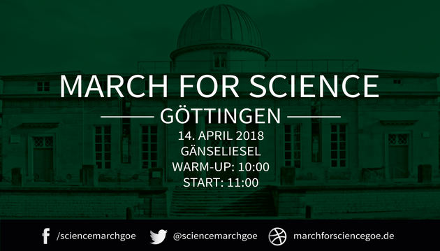 Veranstaltungsplakat für den March for Science in Göttingen