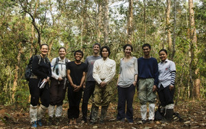 The research team of the macaque project at the PKWS field station in Thailand. Photo: Kittisak Srithorn