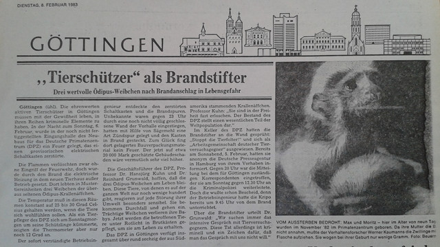 Article of Göttinger Tageblatt 6 February 1983.